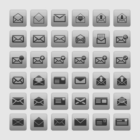 reply all: mail icon set