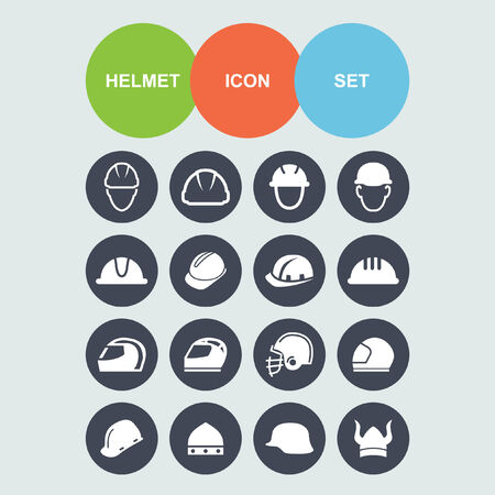 safety hat: helmet icon set