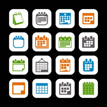 numbers icon: calendar icon set