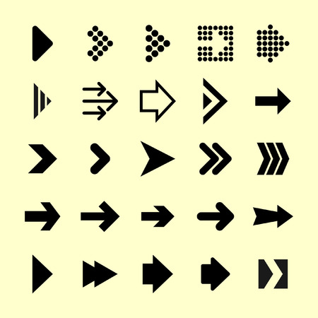 flecha direccion: icono de flecha conjunto