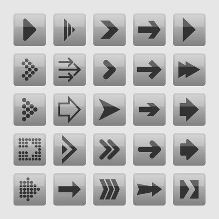 top pointer: arrow icon set