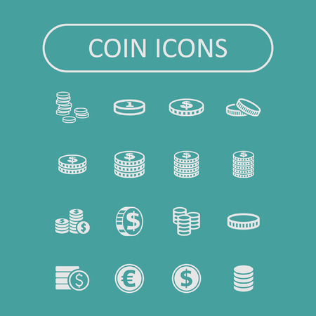 coin icon set Vector