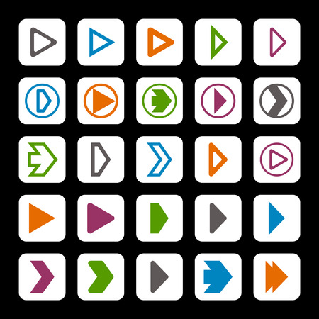 play icon set Vector