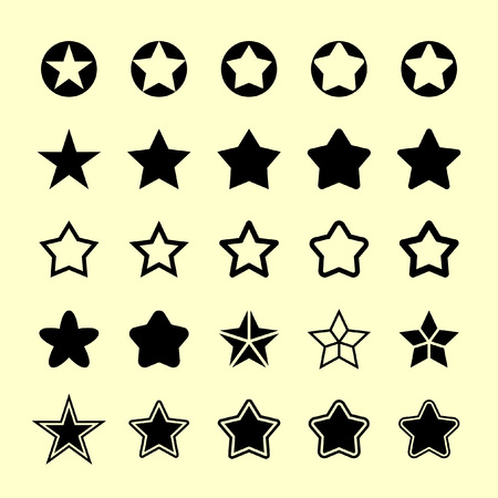 five stars: star vector icon set