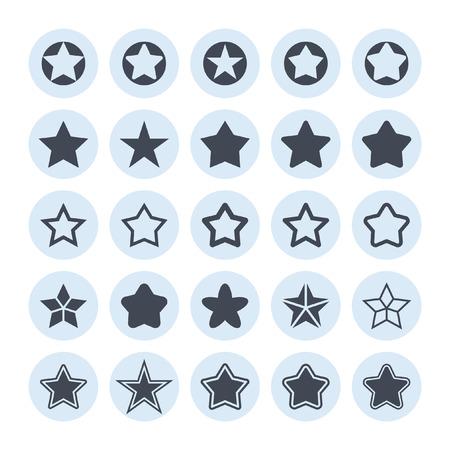 lucero: estrella de vectores icono conjunto Vectores