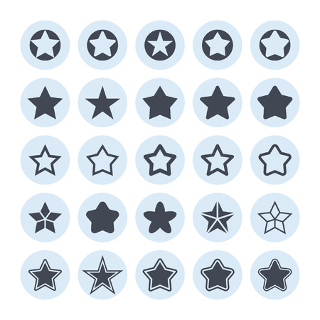 five stars: star vector icon set