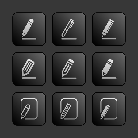 edit icon set Vector