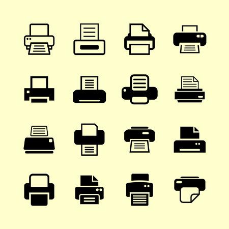 printer icon set Vetores