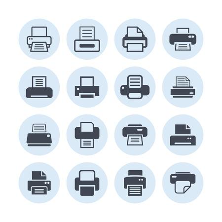print: printer icon set Illustration