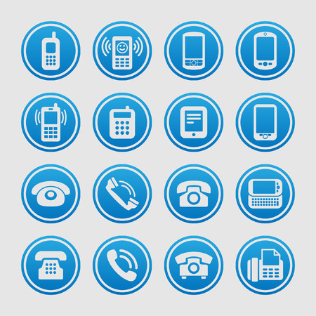 telephone icon: telephone icon set Illustration