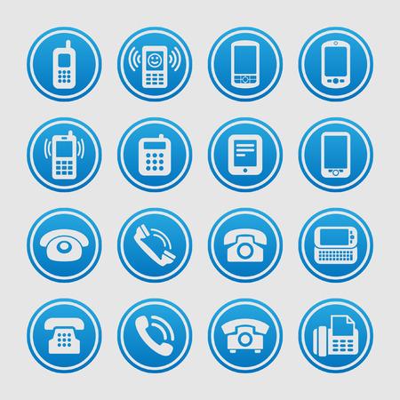 telephone icon set Illustration