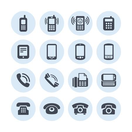 telephone: telephone icon set Illustration