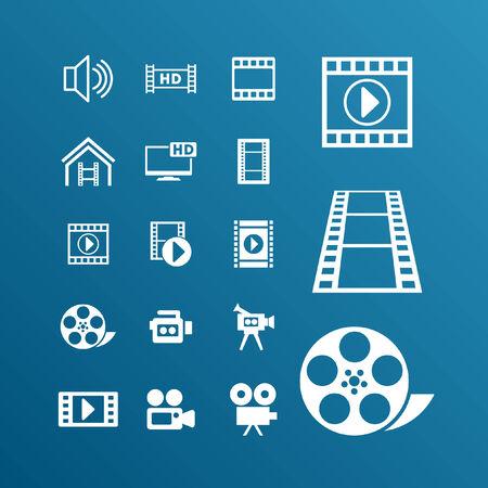 film icon set Vector
