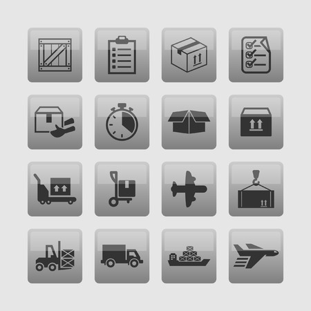 freight transportation: delivery icons
