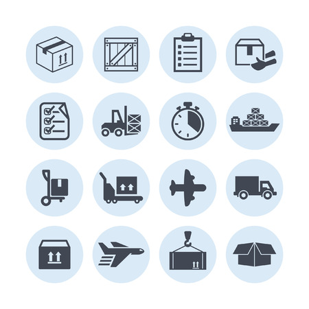moving boxes: delivery icons