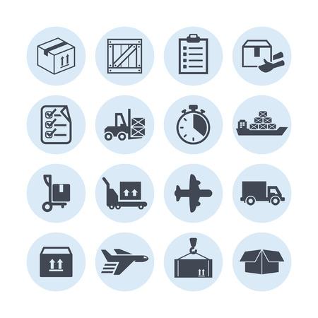 icônes de livraison