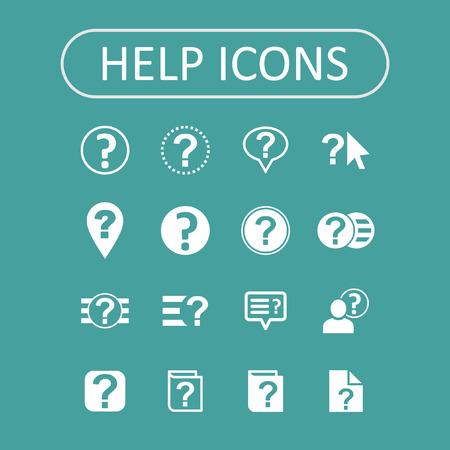 help icon set Vector
