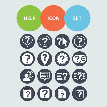 business help: help icon set