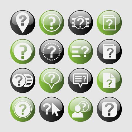 help icon: help icon set
