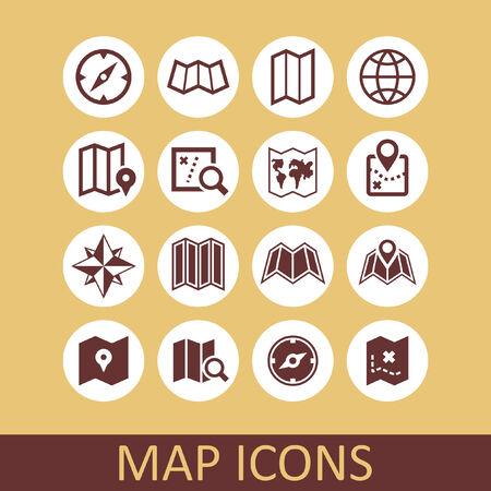 map icon set Vector