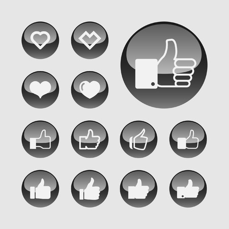 multi touch: like icon set