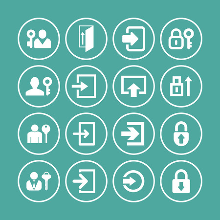 login icons Vector