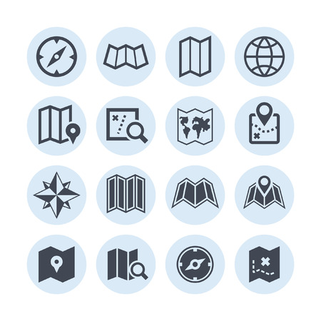 map icon set Vectores