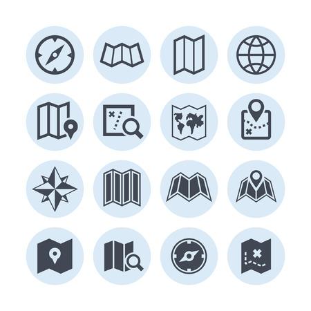 map pin: map icon set Illustration