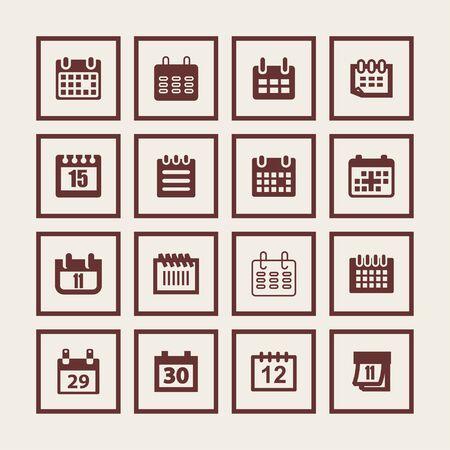 planificacion: fecha del calendario icono de planificaci�n conjunto