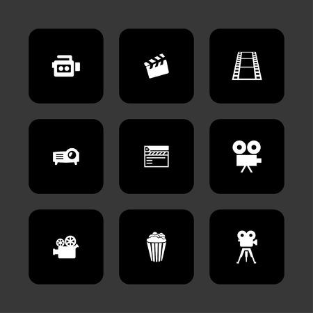 cine: cinema movie icon set