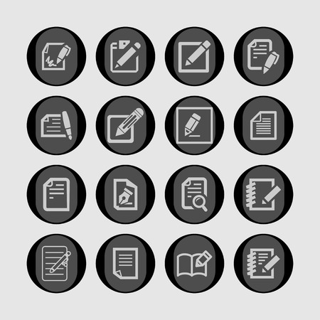 document edit icon set