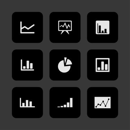 demography: diagram presentation icon set