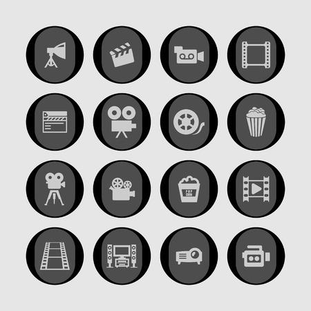 hd: cinema movie icon set