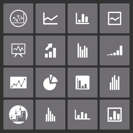 demografia: presentación diagrama de conjunto de iconos Vectores