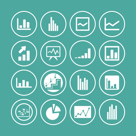 demography: diagram presentation icon set