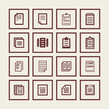 letter word: document paper icon set