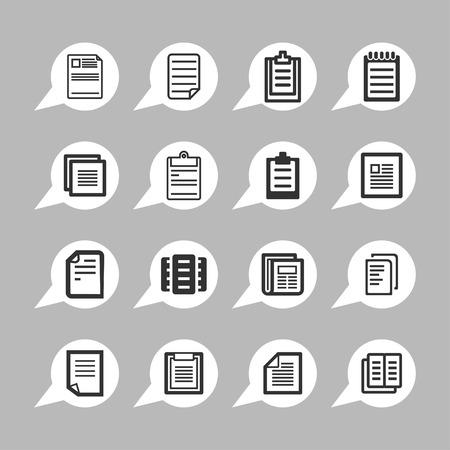 document paper icon set