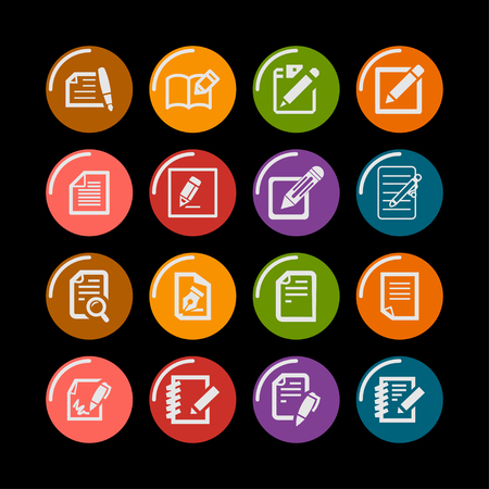 document edit icon set