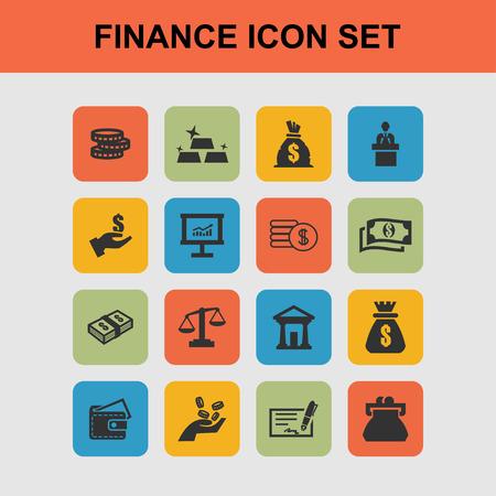 バンキング: 金融銀行経済のアイコンを設定