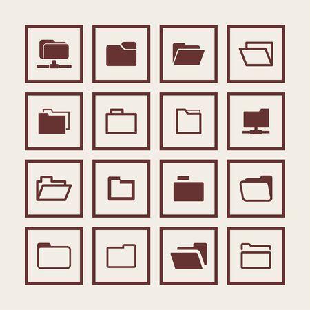uploading: folder icon set