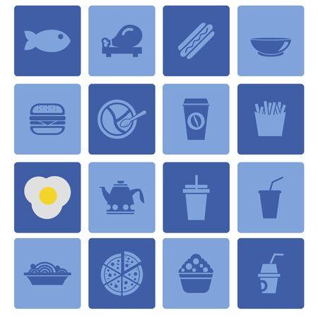 fastfood: food fastfood icon set Illustration