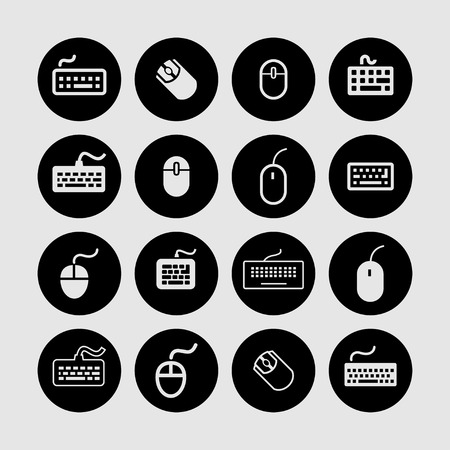 pc icon: mouse keyboard perepheria pc icon set
