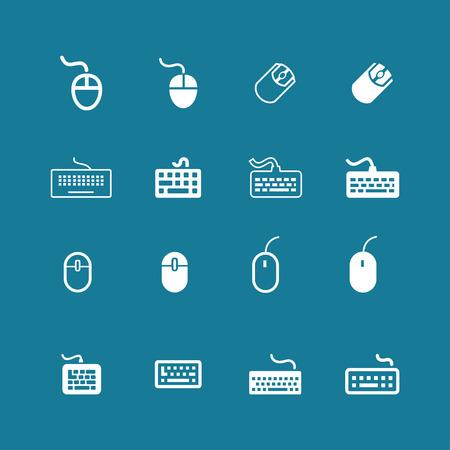 myszy: Mysz perepheria zestaw ikon klawiatury PC