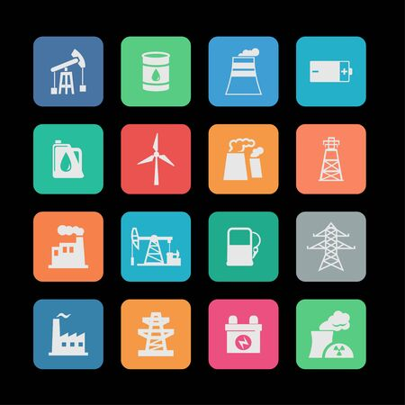 industrial industry: industry icon set Illustration