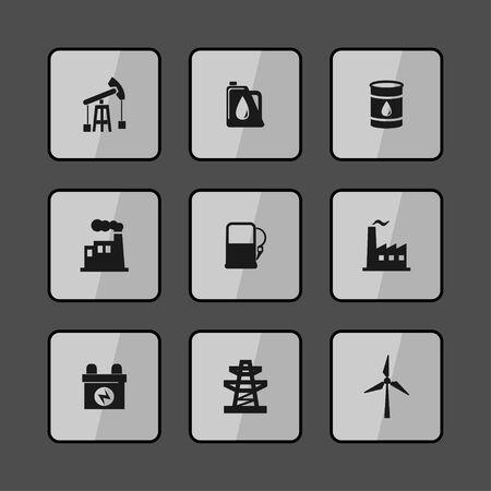 benzine: industry icon set Illustration