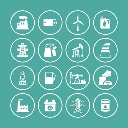 bio hazardous: industry icon set Illustration