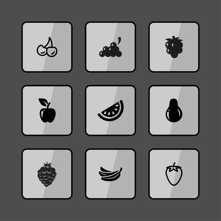 fruit and vegetable: food fruit vegetable icon set Illustration