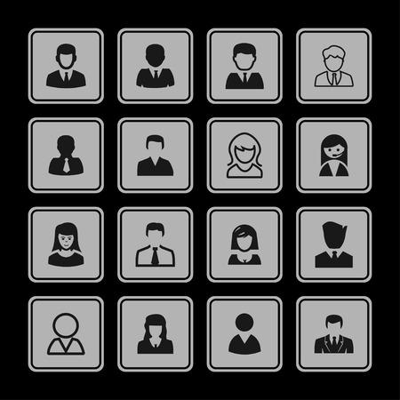 login: profile login avatar icon set