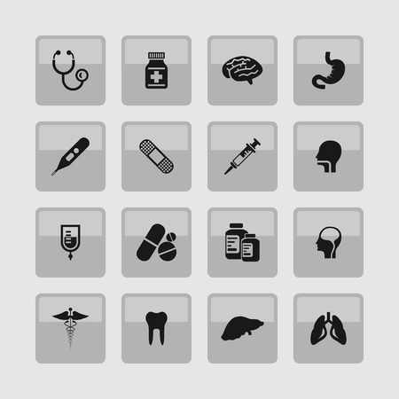 care: medical health care science icon set