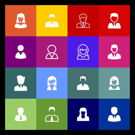 login icon: profile login avatar icon set